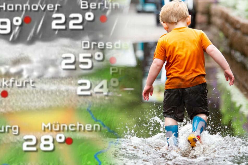 Der Sommer legt in Berlin erstmal eine Pause ein. (Bildmontage)