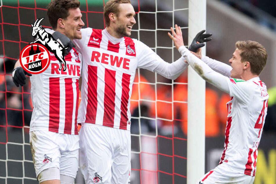 Simon Zoller, Marcel Risse und Vincent Koziello wollen auch am Samstag in Hoffenheim wieder jubeln.