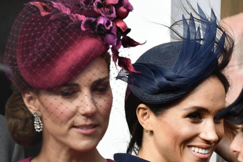 Kate und Meghan: Konkurrentinnen um Aufmerksamkeit? Zur Zeit liegt Harrys Frau nach Punkten klar vorn.