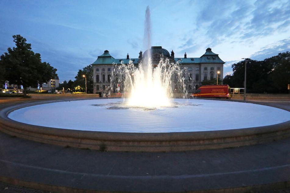 Brunnen am Palaisplatz verunreinigt