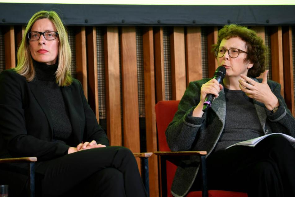 Claudia Perren, Direktorin der Stiftung Bauhaus Dessau (l.), und Annemarie Jaeggi, Direktorin des Bauhaus-Archives Berlin.