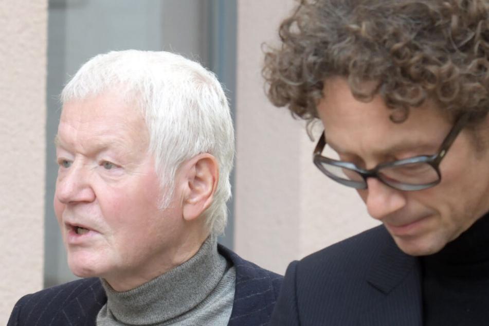 Drogeriemarktunternehmer Anton Schlecker (l.) und sein Sohn Lars (r.).