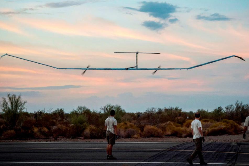 Das Airbus-Solarflugzeug Zephyr S bei seinem Start im US-Bundesstaat Arizona.
