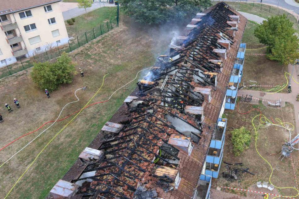 Der Schaden an dem Gebäude des Ankerzentrums in Bamberg ist enorm.