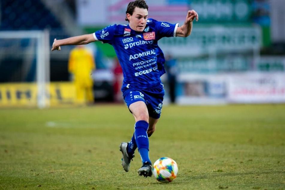 Florian Flecker spielt beim TSV Hartberg und erzielte in dieser Saison sechs Tore.