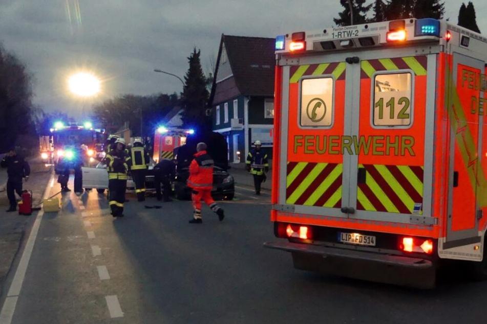 Feuerwehr, Polizei und Rettungsdienst waren im Einsatz.