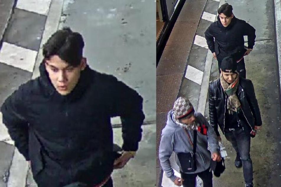 Die Polizei sucht nach diesen drei Tatverdächtigen.