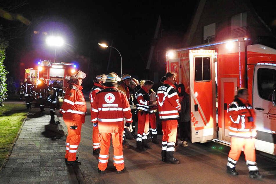 Die Rettungskräfte vor Ort konnten gerade noch Schlimmeres verhindern.