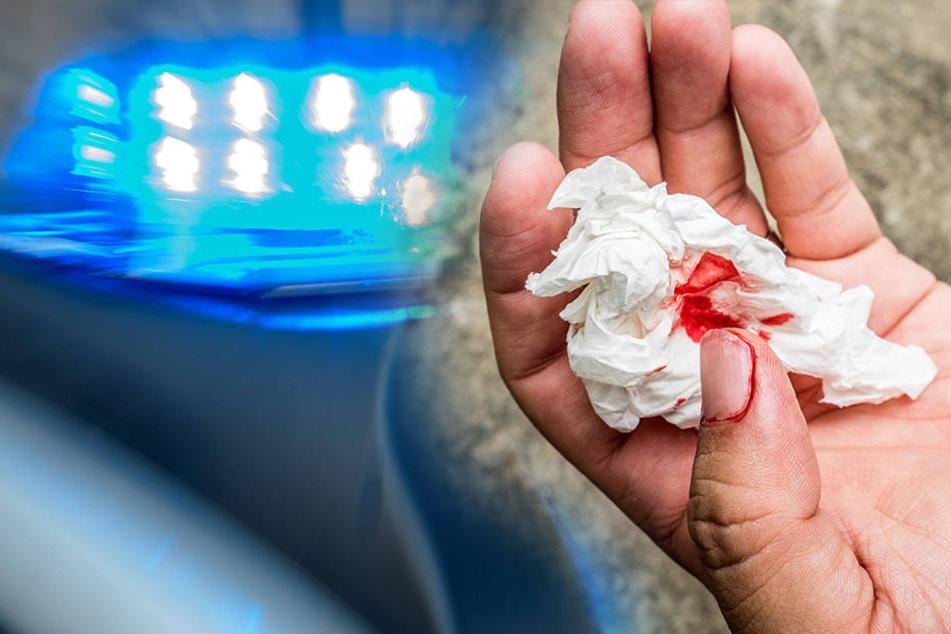 Das Opfer wurde schwer an der Hand verletzt. (Bildmontage)
