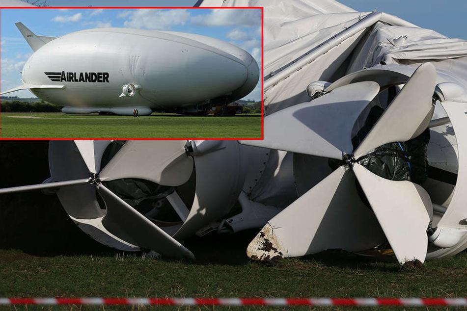 Schock-Moment: Weltgrößtes Luftschiff reißt sich von Haltemast los