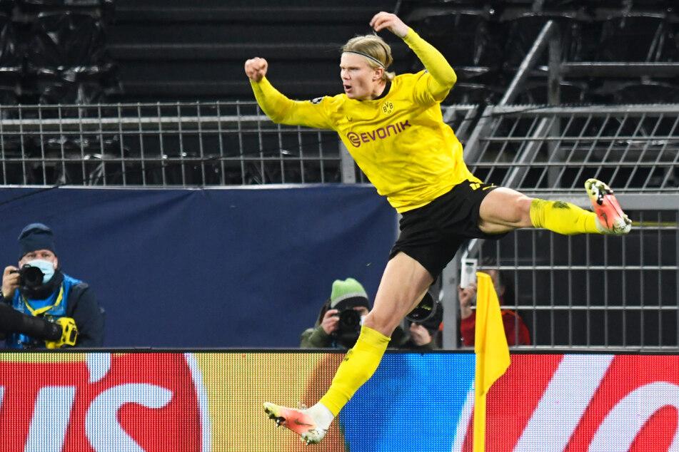 Erling Haaland schnürte seinen nächsten Doppelpack für Borussia Dortmund und hat nun in 14 Champions-League-Spielen 20 (!) Tore erzielt. Damit ist er der norwegische Rekordtorschütze des Wettbewerbs - und das mit 20 Jahren!