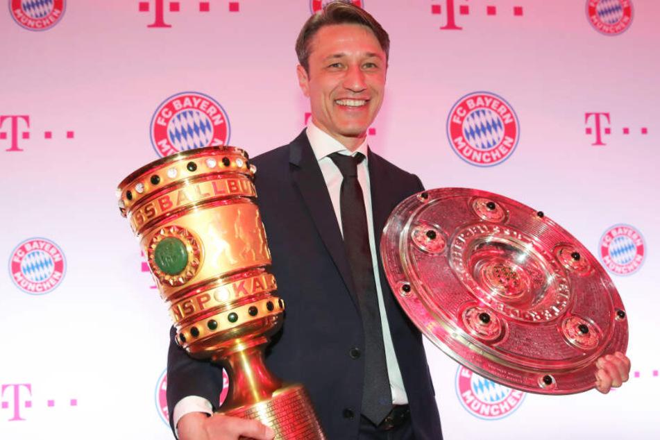 Niko Kovac konnte mit dem FC Bayern in seinem ersten Jahr an der Säbener Straße das Double feiern.