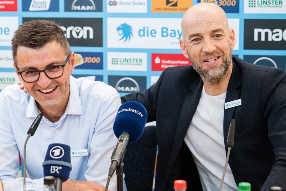 Günther Gorenzel (r.) und Trainer Michael Köllner (l.) sind zu Zeiten der Corona-Krise teilweise auf ganz anderen Ebenen erheblich gefordert.