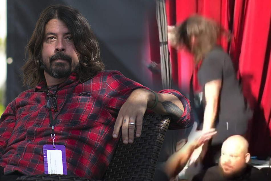 """Erst genippt, dann gekippt: """"Foo Fighters""""-Dave Grohl schon wieder von der Bühne gefallen"""