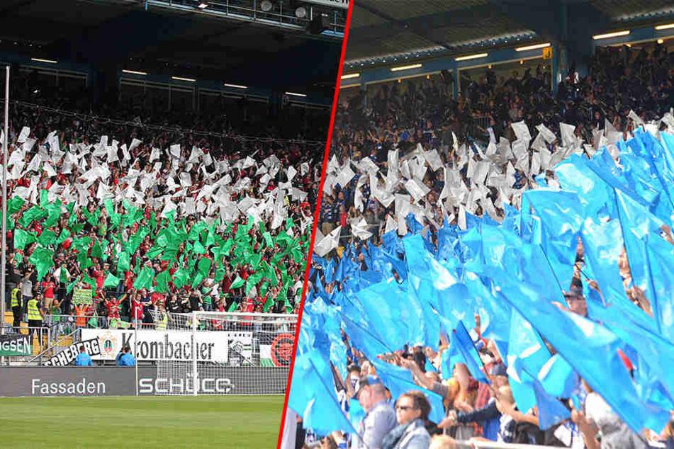 Gegen Hannover feierte das ganze Stadion die Fanfreundschaft mit einer gemeinsamen Choreo.