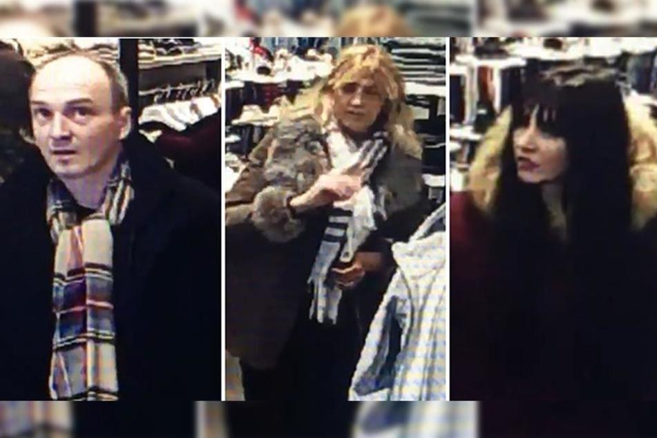 Während die zwei Frauen die Angestellten ablenkten, langte der Mann zu.