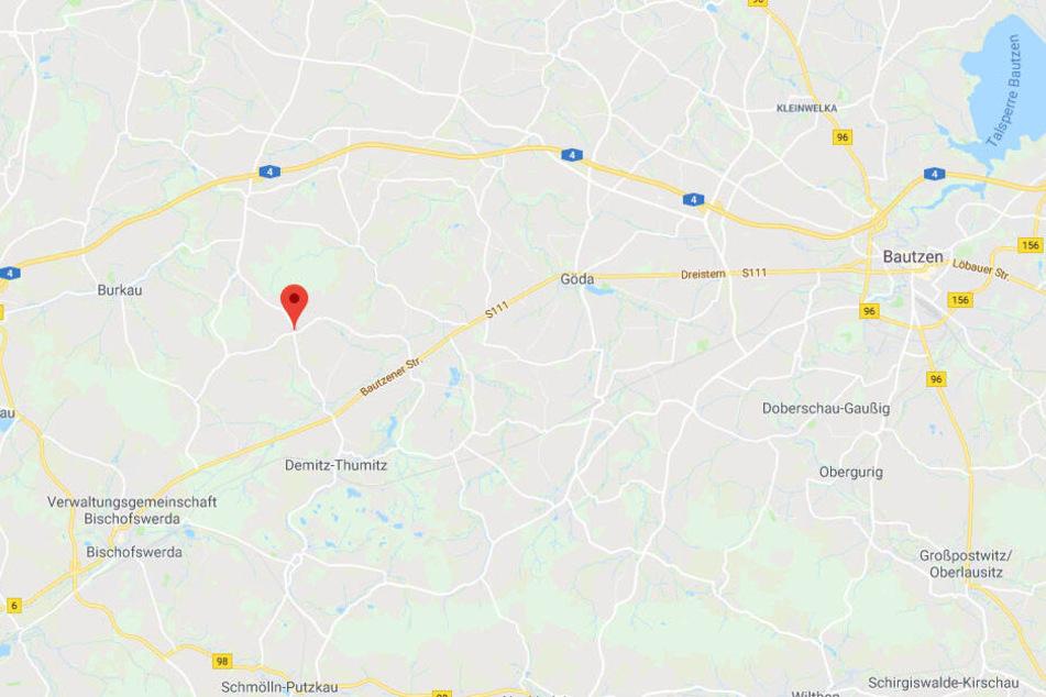 Lage von Stacha im Landkreis Bautzen.