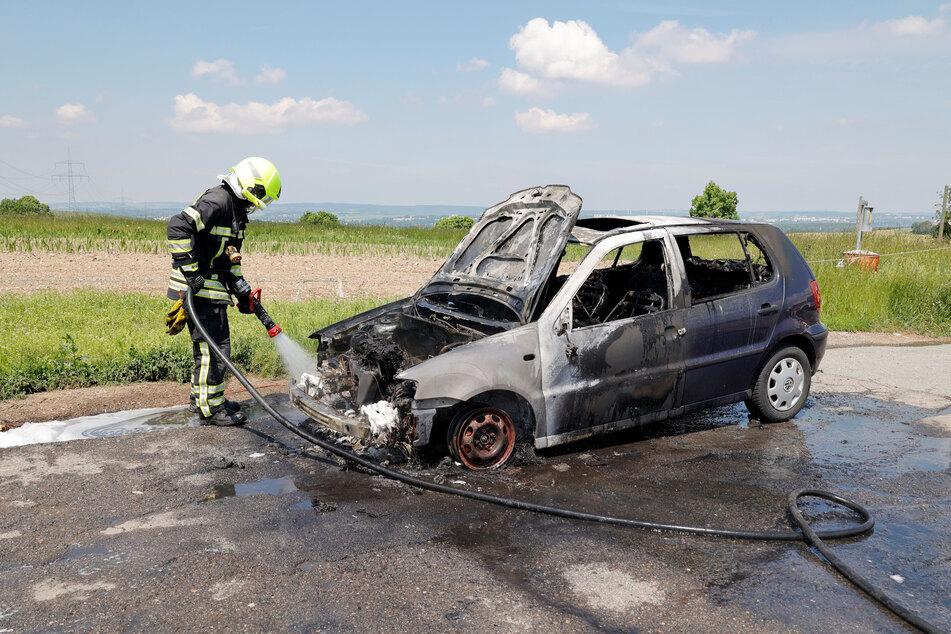 Am Freitagmittag ist in Chemnitz-Klaffenbach ein VW Polo ausgebrannt.