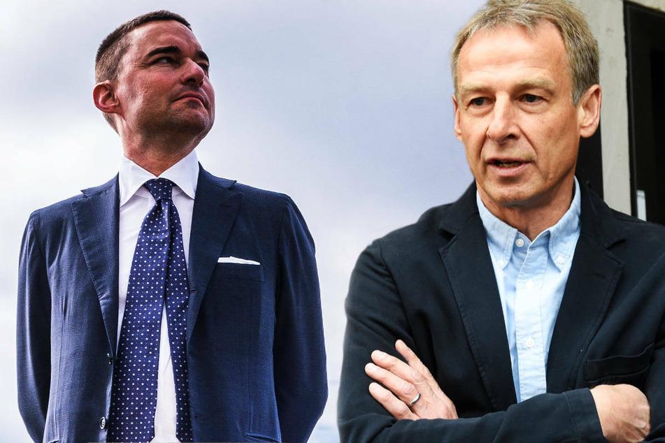 Investor Lars Windhorst (44, l.) sieht den Abgang Jürgen Klinsmanns (56) bei Hertha BSC weiterhin kritisch, räumt aber ein, dass der ehemalige Bundestrainer viele Impulse gegeben hat.