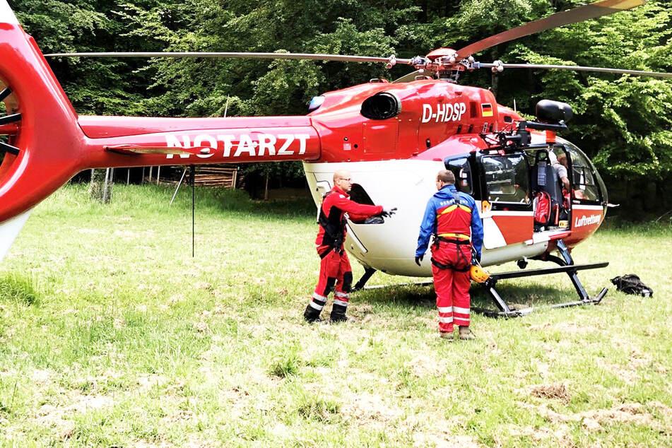 Komplizierte Rettung in der Sächsischen Schweiz: Wanderer stürzt in schmale Stiege