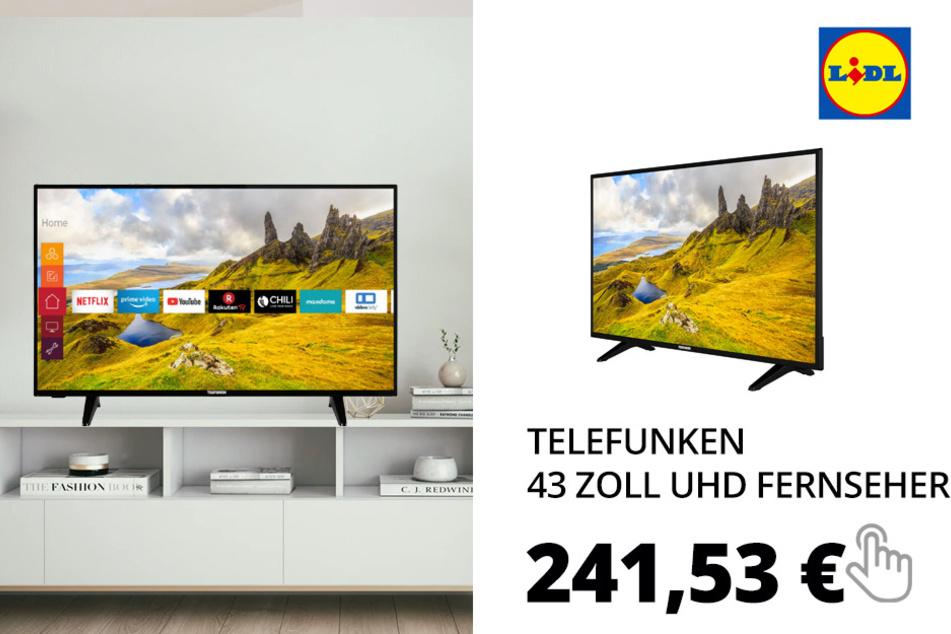 TELEFUNKEN 43 Zoll UHD Fernseher SmartTV