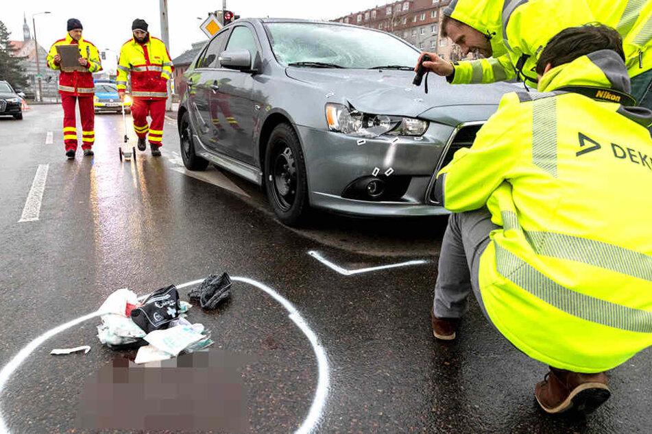 In Heidenau wurde eine Fußgängerin angefahren.