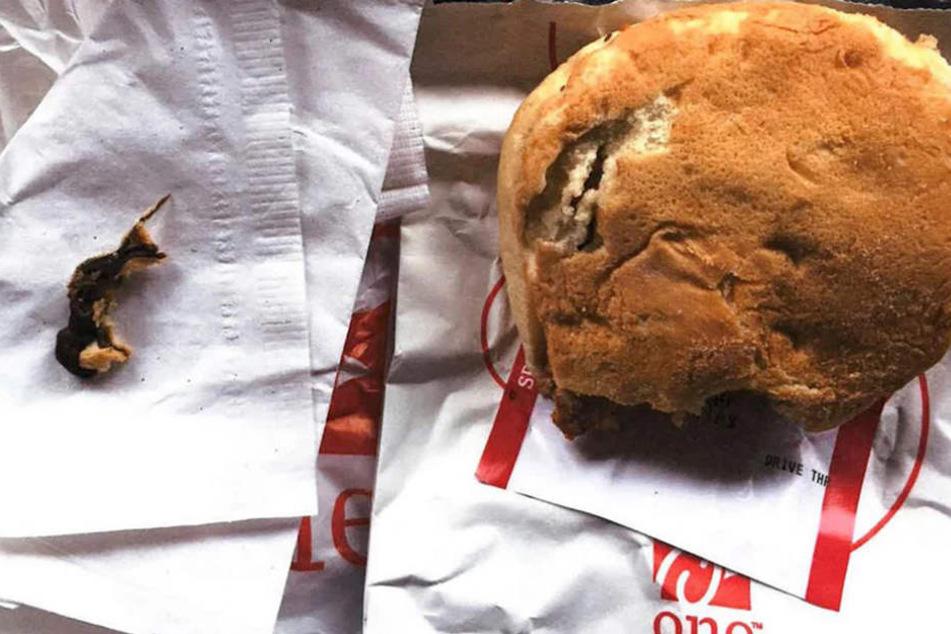 Ellen Manfalouti (46) will ein totes Nagetier in ihrem Burger gefunden haben.