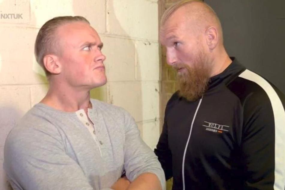 Duell im Ring: Ilja Dragunov (26, l.) tritt gegen seinen früherer Meister Wolfe an.