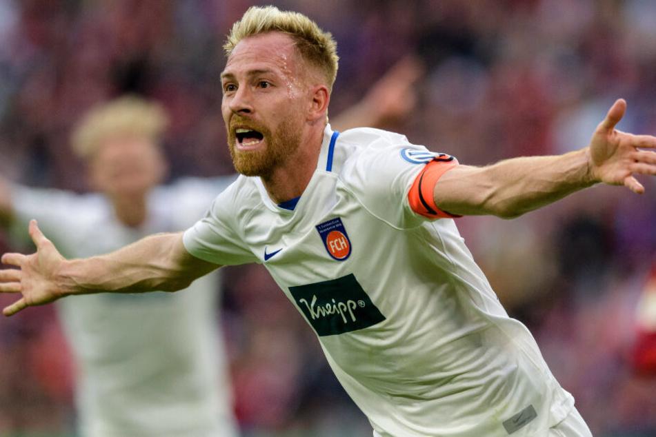 Marc Schnatterer konnte für den 1. FC Heidenheim in München ein Tor erzielen.