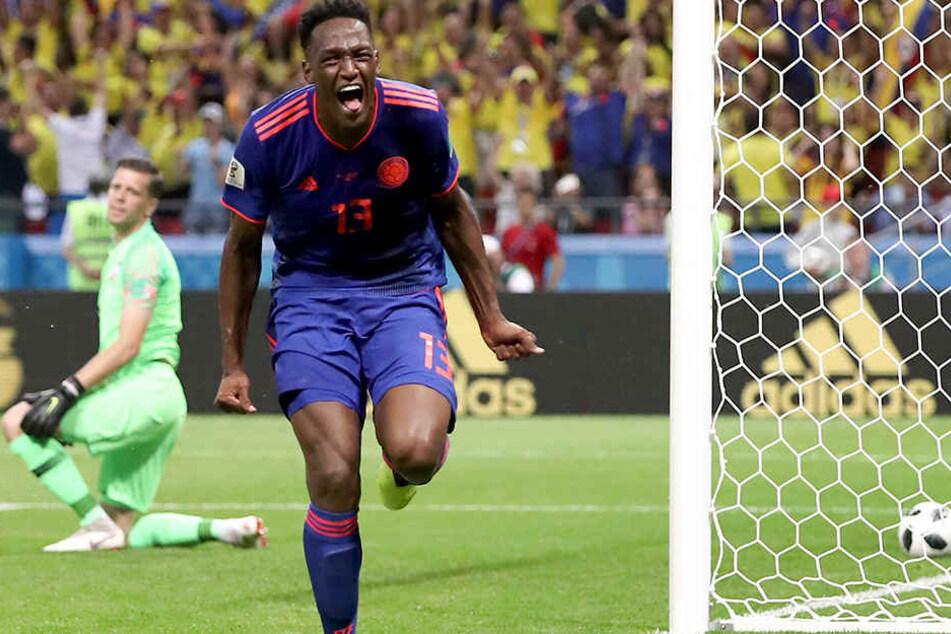 War der torgefährlichste Abwehrspieler der WM 2018: Kolumbiens Kopfballungeheuer Yerry Mina.