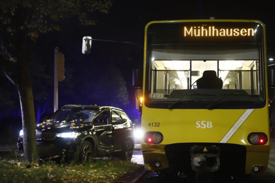 Die Stadtbahn ist auf dem Weg in Richtung Mühlhausen gewesen.