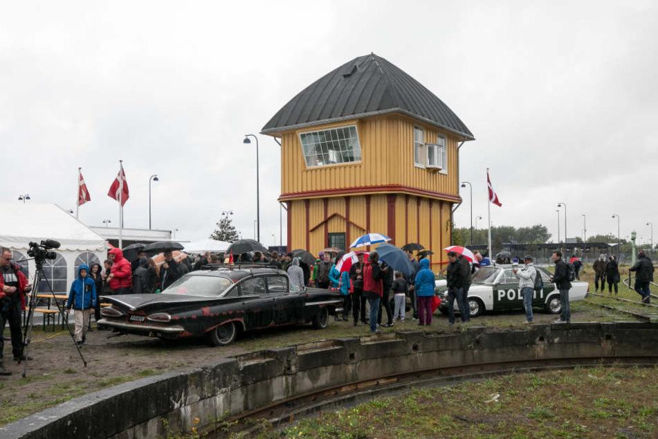 Im Eisenbahnmuseum Gedser erinnert jetzt das renovierte Stellwerk an die Olsenbande.