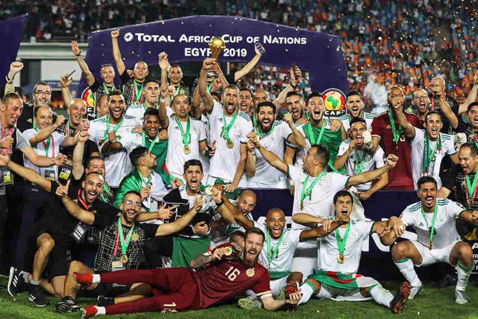 Machte mit dem Sieg beim Africa-Cup den größten Satz im Ranking: Algerien.