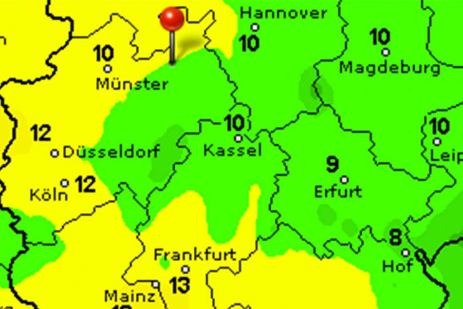Die Temperaturen in Ostwestfalen-Lippe sinken wieder bis unter 10 Grad hinab.