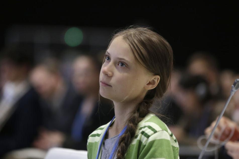 Greta Thunberg bei der UN-Klimakonferenz in Madrid. (Archivbild)