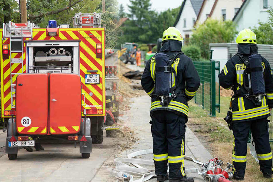 Gasleitung nahe Bautzen massiv beschädigt: Giftige Substanz strömt in großen Mengen aus