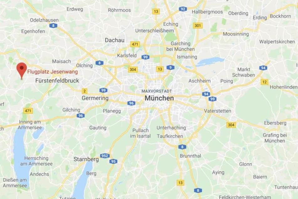 Der Pilot startete auf dem Flugplatz Jesenwang westlich von München.