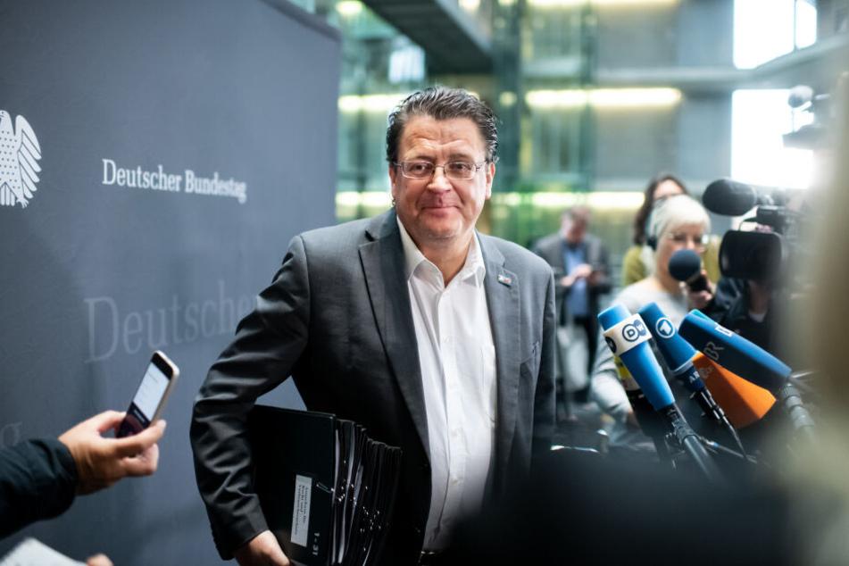 Stephan Brandner am Mittwoch vor Beginn der Sitzung.