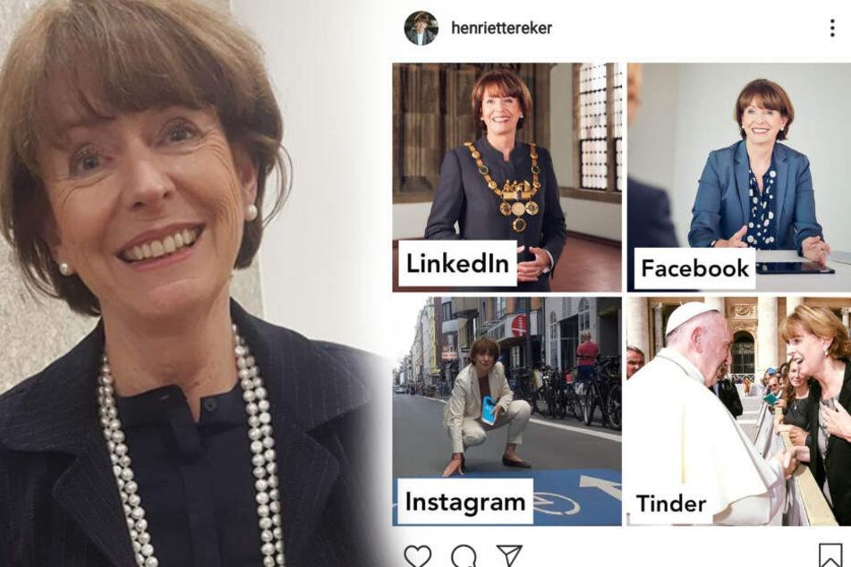 Köln: Das Tinder-Foto! Kölns OB Henriette Reker überrascht bei Instagram-Trend