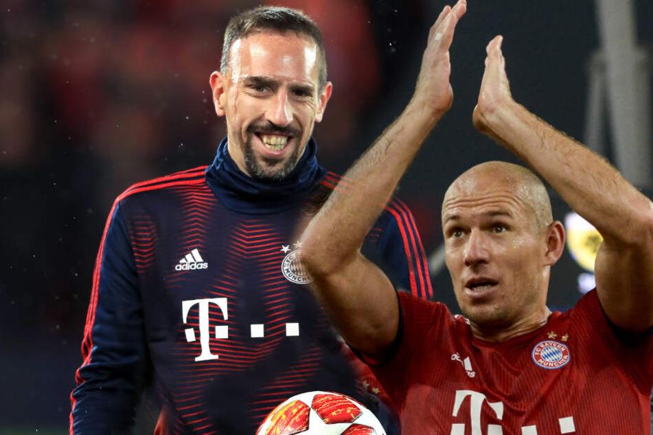 """Zum Abschied leise """"Servus"""": Wie genau es mit Ribéry und Robben weiter geht, ist noch nich klar. (Bildmontage)"""