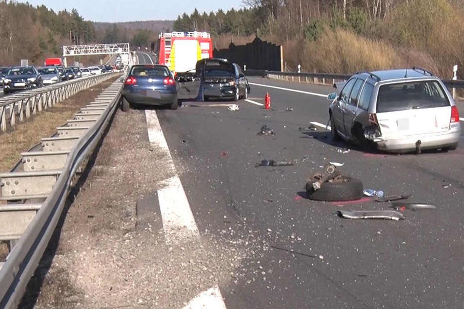 Zu einem heftigen Auffahrunfall kam es auf der Autobahn ebenfalls.