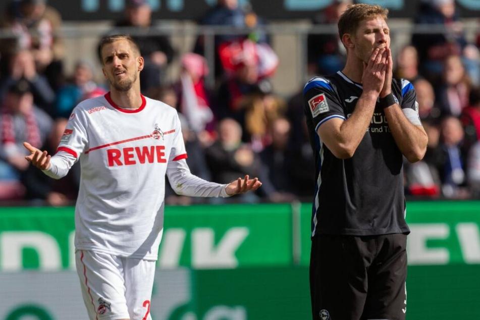 Fabian Klos (rechts) konnte gegen Köln keinen Treffer erzielen.