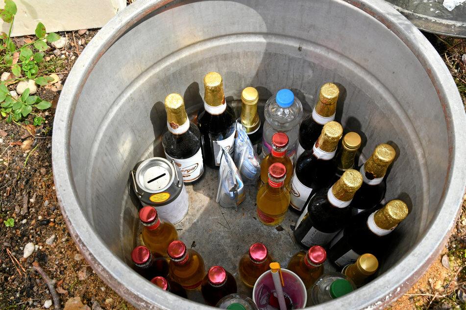 Großartig: Eine Getränkebox im Boden sorgt für kühlende Erfrischung.