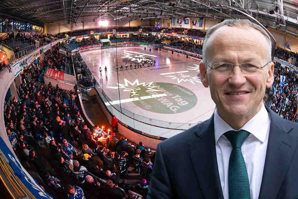 Am Freitag geht's im Löwenkäfig mit den Halbfinal-Heimspielen weiter. Wer in der kommenden Saison die Fans mit Bier & Co. versorgt, dass ist derzeit offen. Sportbürgermeister Dr. Peter Lames.