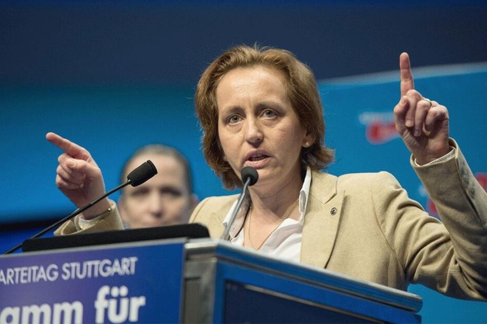 AfD-Politikerin Beatrix von Storch (47) wird am 1. Mai bei der AfD-Kundgebung auf dem Markt sprechen.