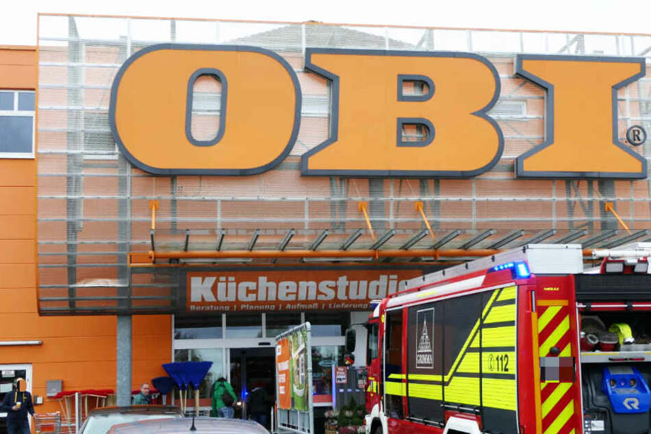 Feueralarm im OBI Baumarkt in Grimma