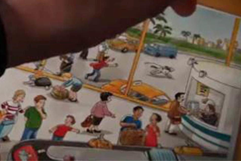 In dem Kinderbuch wird gleich auf eine Moschee gezeigt.