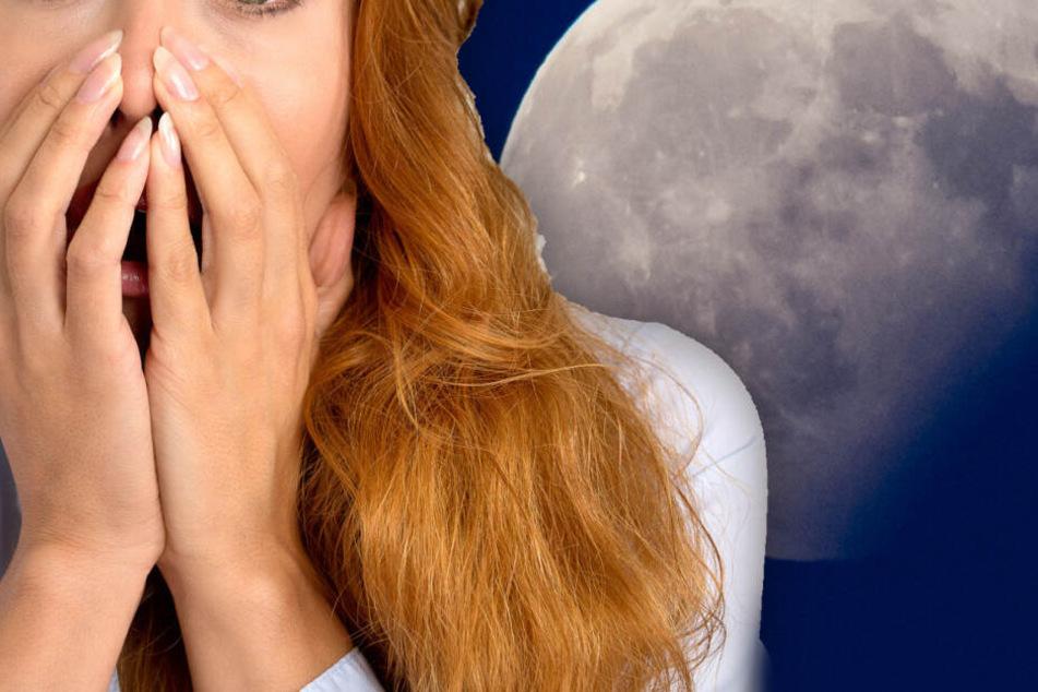 Bei einer partiellen Mondfinsternis färbt sich der Planet rost-rot.