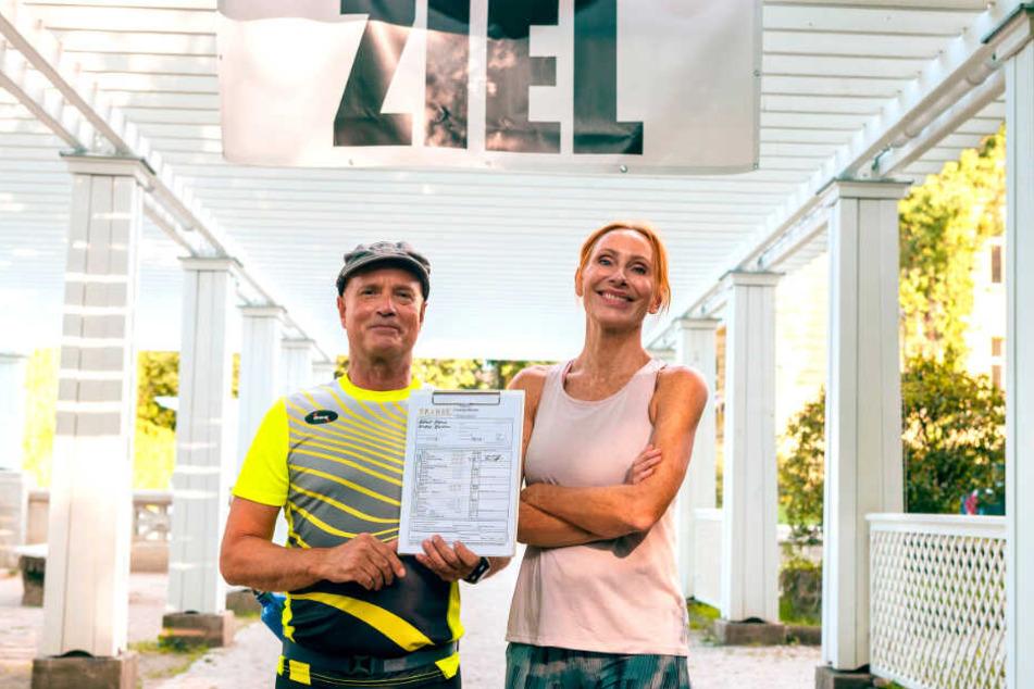 Christian Berkel und Andrea Sawatzki (v.l.) stellen bald ihre sportlichen Qualitäten, aber vor allem auch ihre Team- und Beziehungsfähigkeit unter Beweis.