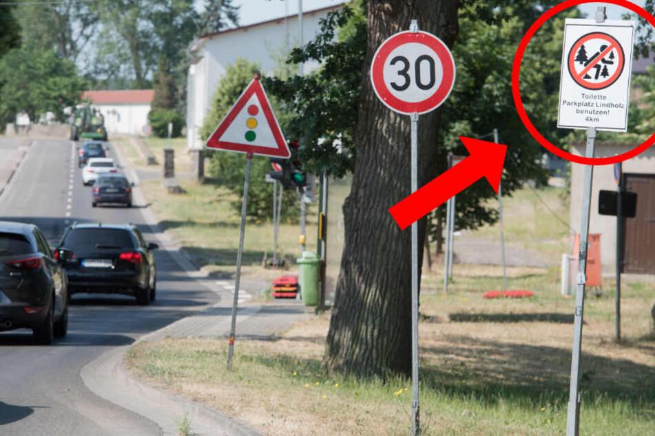 Neuer Ärger an der A20-Umleitung: Diese Kack-Schilder sind heiß begehrt